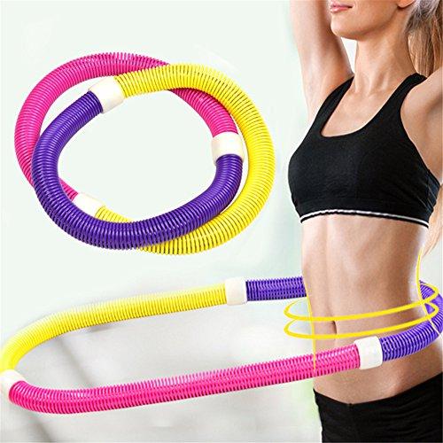 TwinkBling Feder-Hula-Hoop-Reifen, flexible, weiche Fitnessreifen für Unterleibstraining, Gewichtsverlust