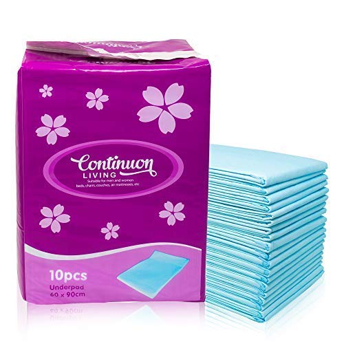 Continuon Extra Absorbent Incontinence Bed Pads with...