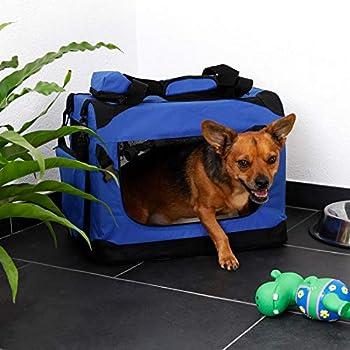 dibea TB10031 Chien Pliable Transport Voiture Box Sacoche pour Petit Animal Bleu