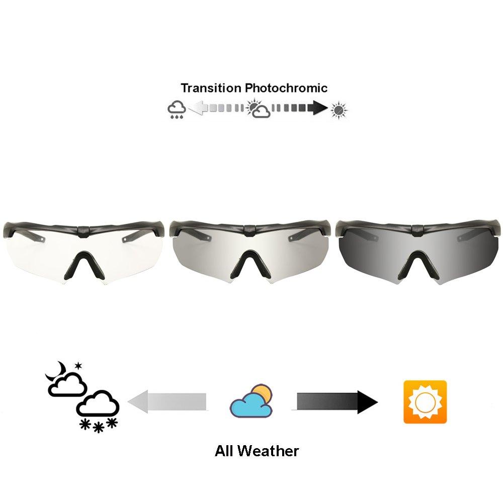 EnzoDate Balística militar gafas 3LS, 4LS o 5LS kit, gafas de sol del ejército polarizado de los hombres Eyeshield táctico (tan, 4 lentes (1 polarizado de 4)): Amazon.es: Deportes y aire libre