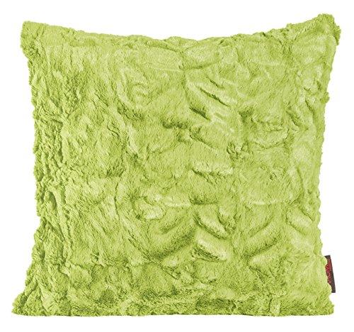 Magma Kissen Fluffy Plüsch Felloptik Kuschelkissen ca. 45x45cm (grün)