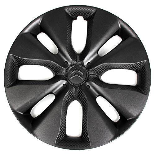 Citroen 1 x Tapacubo Embellecedor de Rueda WHALETAIL Negro Antracita 15'