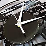 TZMR Reloj de Pared de Vinilo de Queso Reloj de Pared de Vinilo Retro Registro de decoración del hogar Reloj de Pared silencioso