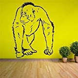 Serie De Animales Orangutang Walking Ape Homo Sapien Vinilo Pared Pegatina Casa Sala De Estar Decorativa 43 * 57Cm