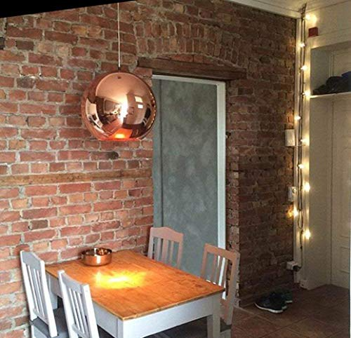 Modern light chandelier table, electroplating bronze mirror is hanging lamp/ceiling, height-adjustable E27 living room chandelier dining bedroom
