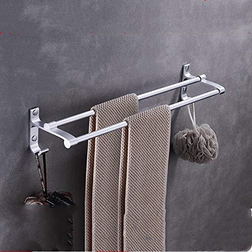 Toallero baño espacio simple Toallero de aluminio con gancho Toallero de baño del hotel Toallero-60 cm