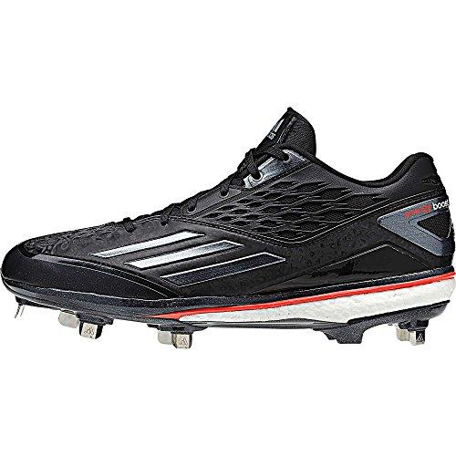 adidas Energy Boost Icon Herren Baseball Cleats Metal Spikes, Mehrere (schwarz / rot), 44 EU