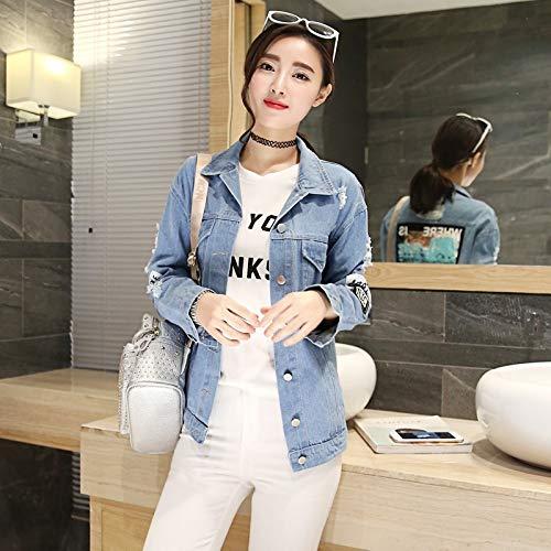 NZJK jeansjas dames jeans jack print bomberjack dames lente herfst dames oversize mantel casual streetwear
