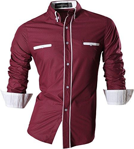 Slim Fit Long Sleeves Shirt- WineRed