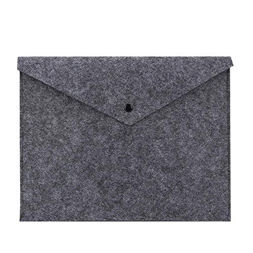 Laptop vilt & lederen hoes tas, draagbaar vilt laptop opbergtas kantoor handtas aktentas reticule computer pakket 11