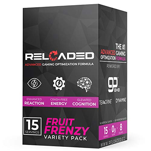 Reloaded Advanced Gaming Supplement - Elite Gamer Fuel that Generates Crash Free Energy, Enhances Reaction Time & Elevates Cognition (Variety Pack)