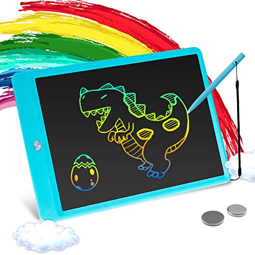 Tikooere LCD Writing Tablet 10 Inch Kids Colorful Doodle Board Drawing, Educational and Learning Toy Gift for 2-6 Years Old Boy and Girls (Blue)