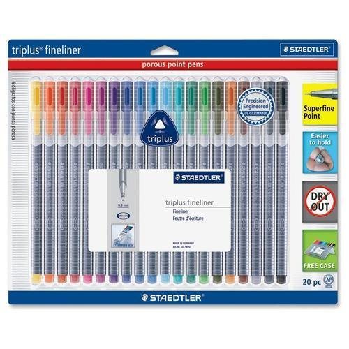 334SB20A6 Staedtler Triplus Fineliner Pens - Super Fine Pen Point Type...