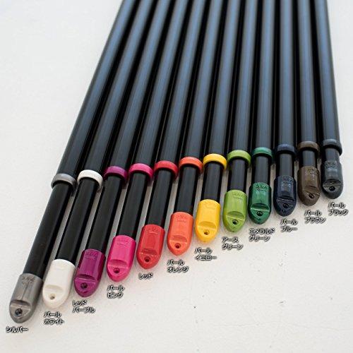 ものほし竿伸縮物干し竿(竿の長さ:1.5m-2.6mまで伸びる)本体カラー:ブラック(キャップカラー:パールブラック)