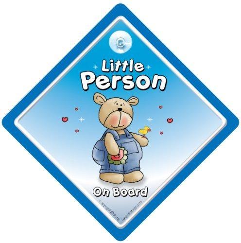 Little Person On Board, bleu Cutie, bébéà bord, autocollant, Sticker pare-chocs, signe, petit-enfant signe, grands-parents, voiture Panneau, signe, voiture pour bébé, signe, bébé pour bébé, signes, Grandad, Pops, Nanny, grands-parents