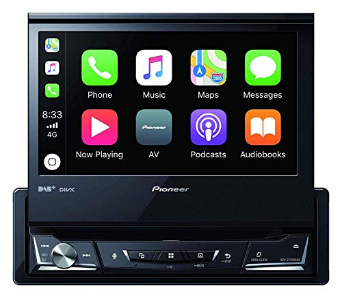 Pioneer AVH-Z7200DAB 1-DIN-Multimedia Player, ausklappbarer 7-Zoll ClearType-Touchscreen, Smartphone-Anbindung, Apple Car Play, Android Auto, USB, Bluetooth, 13-Band-Grafikequalizer
