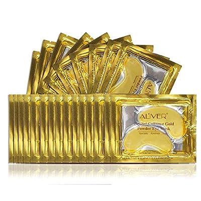25 Paar 24K Gold-Pulver-Gel-Kollagen-Augenmaske