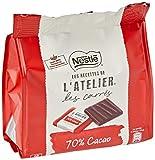 Nestlé Les Recettes de L'Atelier Láminas Chocolate Negro 70% 130g - Pack de 6