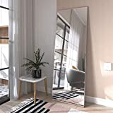 Honyee Full Length Mirror, Floor Mirror Dressing Mirror with Standing Holder Wall Mounted Mirror Framed Mirror for Cloakroom/Bedroom/Living Room(63''x 18'', Glod)