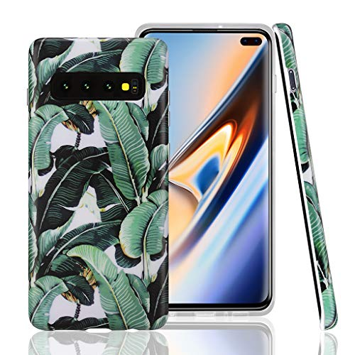 GOLINK Case for Galaxy S10e, Matte Finish Floral Series IMD Printing Slim Fit TPU Gel Case for S10e (5.8' 2019 Released)-Banana Leaves