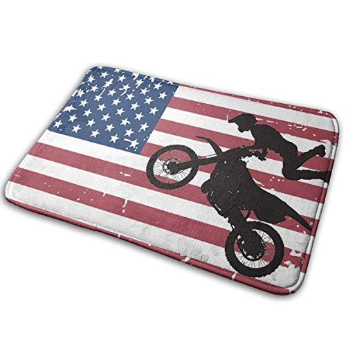 Zerbino antiscivolo per ingresso con bandiera americana Got Dirt per la casa, per ufficio, cucina, bagno, 80 x 50 cm
