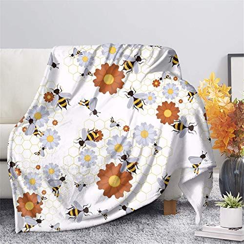 COEQINE Manta con estampado de girasoles para niños y niñas, súper suave, acogedora, cálida y ligera, para sofá de cama