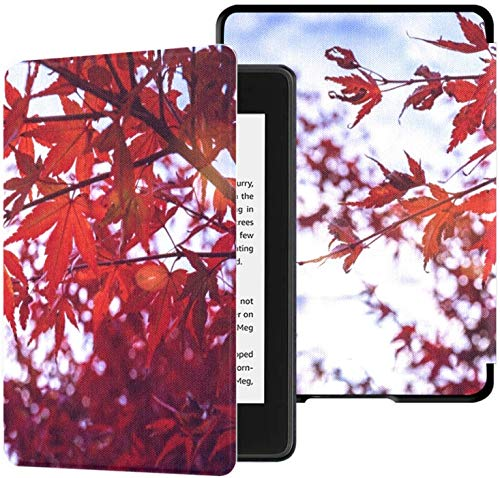 All-new Kindle Paperwhite Water-safe Fabric Cover(10th Generation, 2018 Release), Acer Palmatum Leaves Wind Fall Red Tablet Case