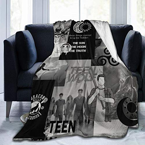 Teen_Wolf Merch Weighted Blanket Three Things Cannot Be Long Hidden The Sun The Moon and The Truth Celtic Triskelion Symbol Sti_les Stilins_ki Beacon Hills Lacrosse Flannel Throw Blanket (60'x50')