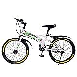 LUDAXUE Niños Bicicleta de montaña 20in Deportes al Aire Libre Bicicleta con Botella de Agua Bolsa Ruedas de Entrenamiento Boys Bigneros Principiantes Montaje rápido Principiante Nivel
