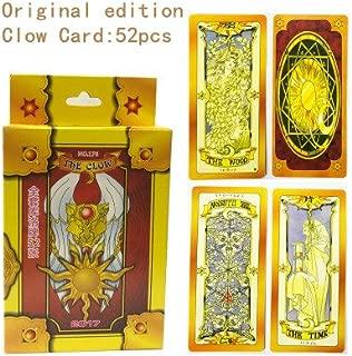 Gold Happy Cosplay Magic Clow Card 52pcs Tarot Full Set Card Captor Sakura Cosplay Props Tarot game