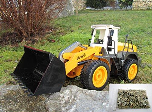 RC Auto kaufen Baufahrzeug Bild: Jamara RC Bagger Radlader Inklusive Kieselsteine 440 1:20 Länge 44cm Ferngesteuert*