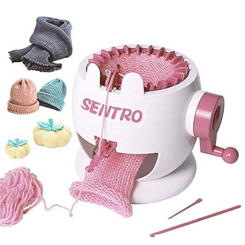 Knitting Machine, Smart Weaver Knitting Round Loom, Knitting Board Rotating Double Knit Loom Machine, 22 Needles Knitting Loom Machines Weaving Loom Kit for Sock, Hat, Pumpkin