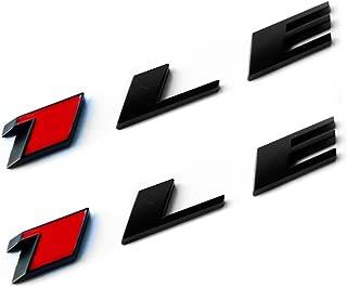 Yoaoo 2x OEM Camaro 1LE emblem badge letter Rear Side 1LE Door Genuine Matte Black Red