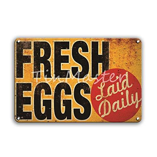 Cartel de chapa de metal de huevo retro Área 51 advierte contra el uso no autorizado de pintura de estaño Restaurante Casa de campo familiar Decoración de pared Placa de metal 20x30cm 30157