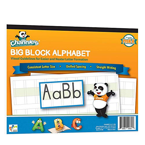 Channie's Big Block Alphabet Blank Worksheets Prek-1st 80 pages Perfect for teaching & Practicing alphabets 8.5