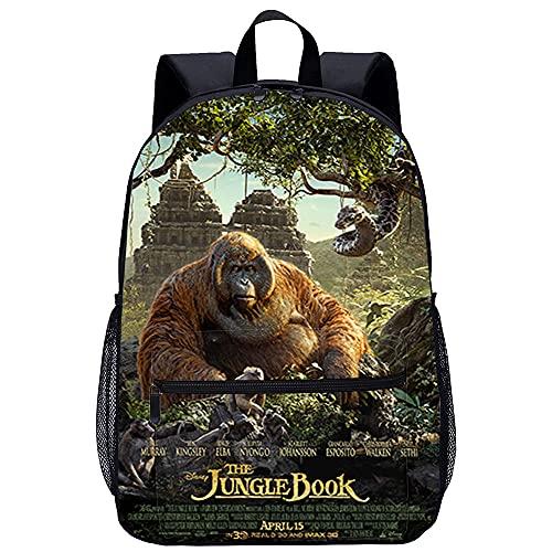 Zaino scolastico Fantasy Forest for Teens Cute Print Bookbag Zaino per laptop Donna Viaggio Casual Daypack Giant Python Kao