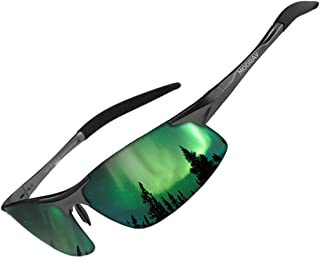 MOORAY Mens Sports Polarized Sunglasses UV Protection...