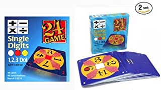 24 Game Two Pack: Includes 48 Single Digit Cards and 48 Double Digit Cards and Exclusive Tips Sheet!