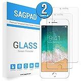 SAGPAD [2 Piezas] Cristal Templado para iPhone iPhone 6/ 6s, Cubierta Completa Vidrio Templado 9H Protector Pantalla Premium, Anti-Huella Digital, Anti-Burbujas par 6/6s (Transparente)