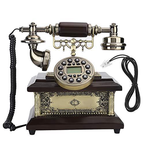 Vbestlife Resina Antiguo Vintage Teléfono clásico Teléfono Retro con Cable para el hogar Escritorios de Hotel Dormitorios Sala de Estar Uso
