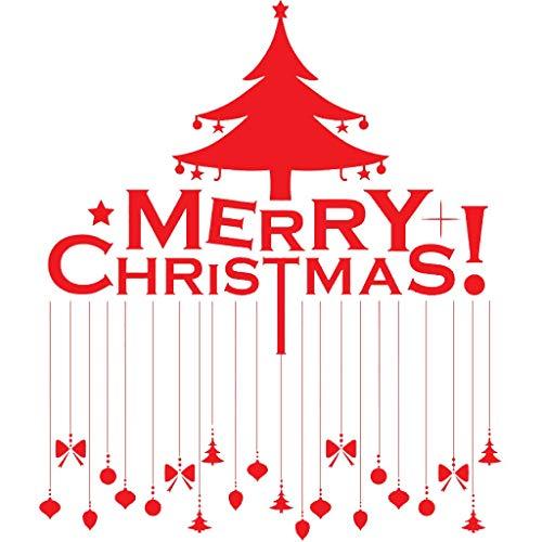 TYOLOMZ Vrolijk Kerstmis Shop Raam Stickers Verwijderbare Vinyl Kerstboom Plafond lamp Art Mural Decoratie Decals Xmas Decor Gift
