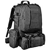 CVLIFE Tactical Backpack Military Army Rucksack Assault Pack Molle Bag (Black)