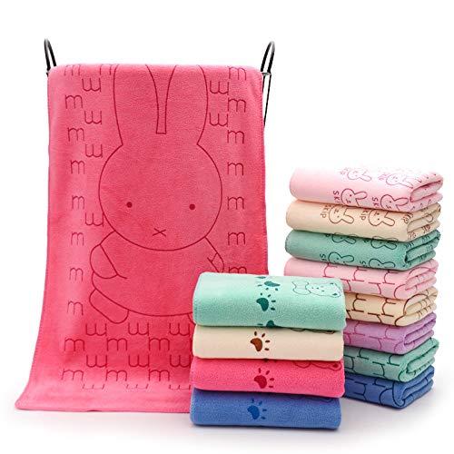 NOBRAND Super super absorbente toalla al por mayor que algodón suave adulto lavado cara lindo de dibujos animados familia pequeña toalla de cara