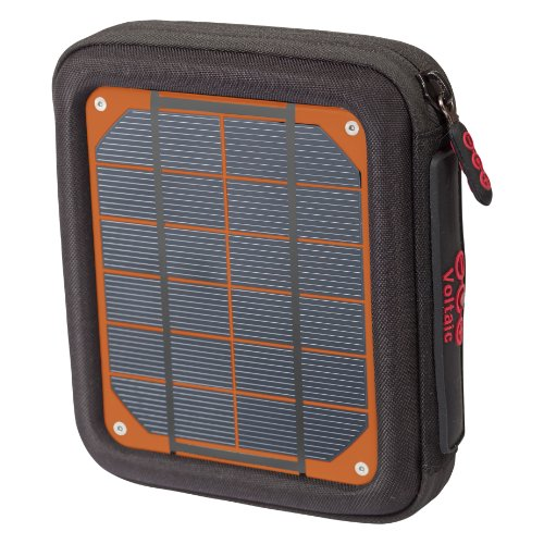 Voltaic Systems Amp Portable Rapid Solar Charger with Battery Pack (Power Bank) 6,400mAh & 2 Year Warranty | Powers Phones Compatible with iPhone, Tablets, USB, More | Waterproof - Orange