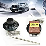 SUNWAN Capillary Car Thermostat Cooling Radiator Fan Control Switch Universal Adjustable 0-120°C...