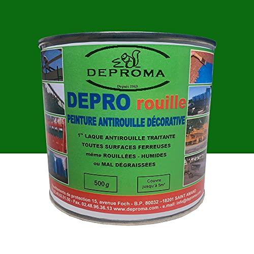 DEPROMA | Peintures glycéro | fer antirouille métaux | 500g | Protection contre la rouille - Vert foret