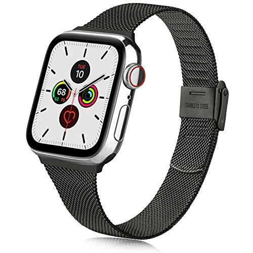 Oumida コンパチブル Apple Watch バンド 38mm 40mm 42mm 44mm,ミラネーゼループ アップルウォッチバンド ...