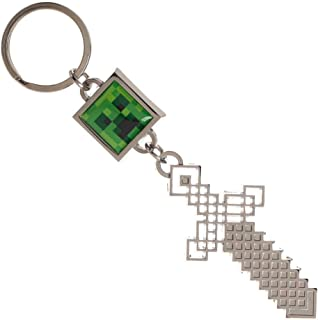 Sword and Creeper Minecraft Keychain Gaming Keychain Minecraft Accessories - Video Game Keychain Minecraft Gift