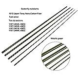 NO LOGO XW-GANPEI, IM12 11'6 '' LW4 / 5 LW7 / 8 Switch Fliegenrutenrohlinge Fast Action Spey Lachs Fliegenrutenrohling Mit Ersatzspitzen Fast Action (Size : 11ft6in LW5I6)