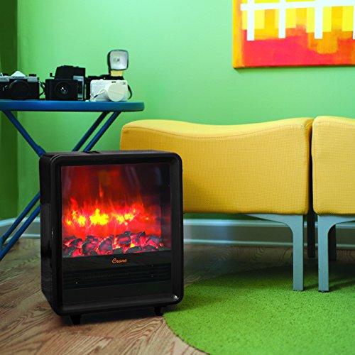 Crane Fireplace Heater, 750W/1500W, Realistic Embers, 3 Settings,...